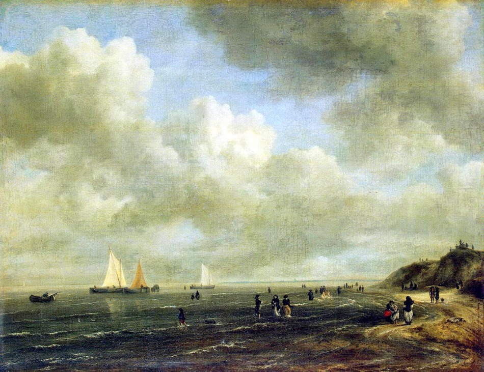 Jacob van Ruisdael – The Hermitage Museum ГЭ-5616. Title: Seashore. Date: late 1660s - early 1670s. Materials: oil on canvas. Dimensions: 52 x 68 cm. Acquisition date: 1919. Nr.: ГЭ-5616. Source: http://www.tumbnation.com/tumblr-blog/classic-art/post-140419394483. I have changed the light of the original photo