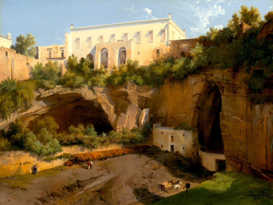 Lancelot-Théodore Turpin de Crissé – The National Gallery of Art 1997.102.1. Title: View of a Villa, Pizzofalcone, Naples. Date: c. 1819. Materials: oil on canvas. Dimensions: 41 x 54 cm. Nr.: 1997.102.1. http://www.nga.gov/content/ngaweb/Collection/art-object-page.102627.html. I have changed the light of the original photo.