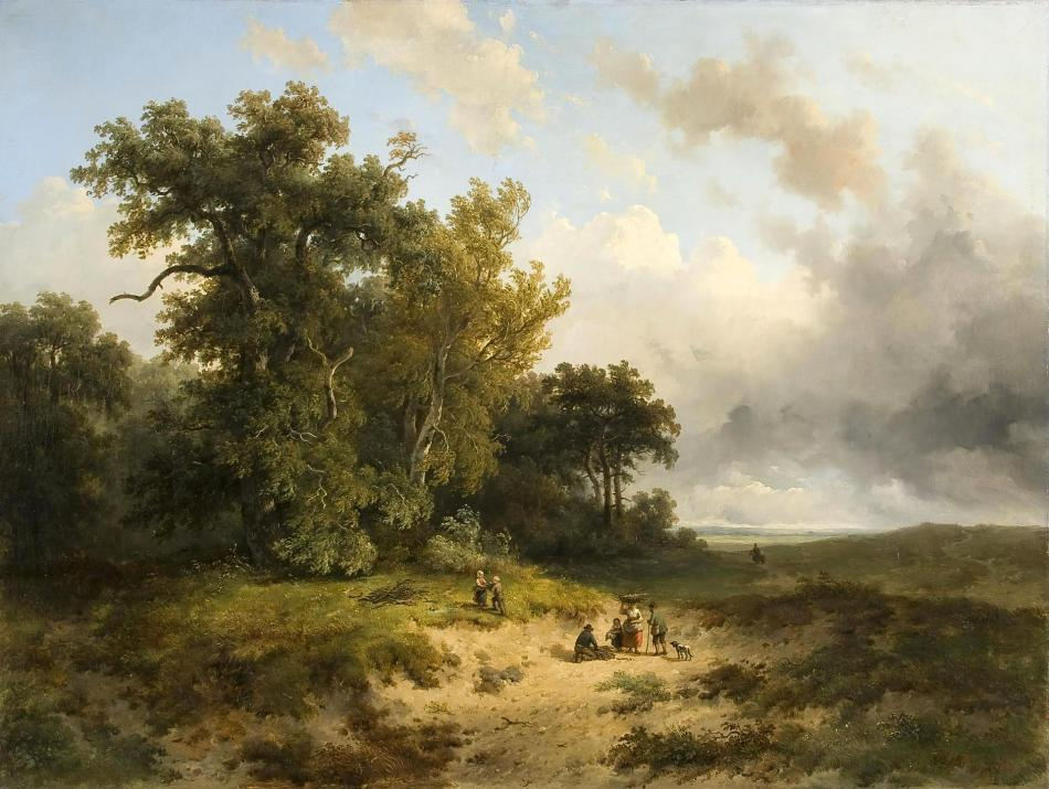 Anthonie Jacobus van Wijngaerdt – The Hermitage Museum ГЭ-4397. Title: Approaching the Thunderstorm. Date: 1853. Materials: oil on canvas. Dimensions: 100.5 x 75.5 cm. Acquisition date: 1822. Nr.: ГЭ-4397. Source: http://www.hermitagemuseum.org/wps/portal/hermitage/digital-collection/01.+Paintings/30445/?lng=en. I have changed the contrast of the original photo