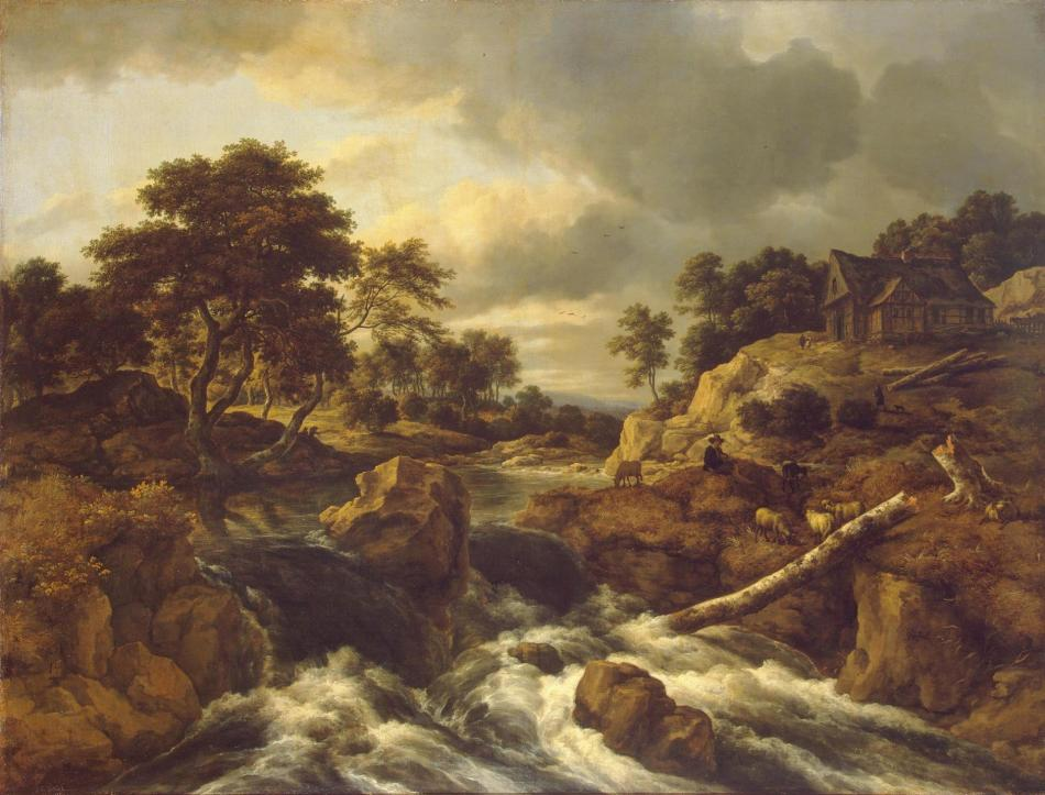 Jacob van Ruisdael – The Hermitage Museum ГЭ-942. Title: Waterfall in Norway. Date: c. 1660s – early 1670s. Materials: oil on canvas. Dimensions: 108 x 142.5 cm. Nr.: ГЭ-942. Source: http://hermitagemuseum.org/wps/portal/hermitage/digital-collection/01.+Paintings/44500/?lng=en. I have changed the light of the original photo