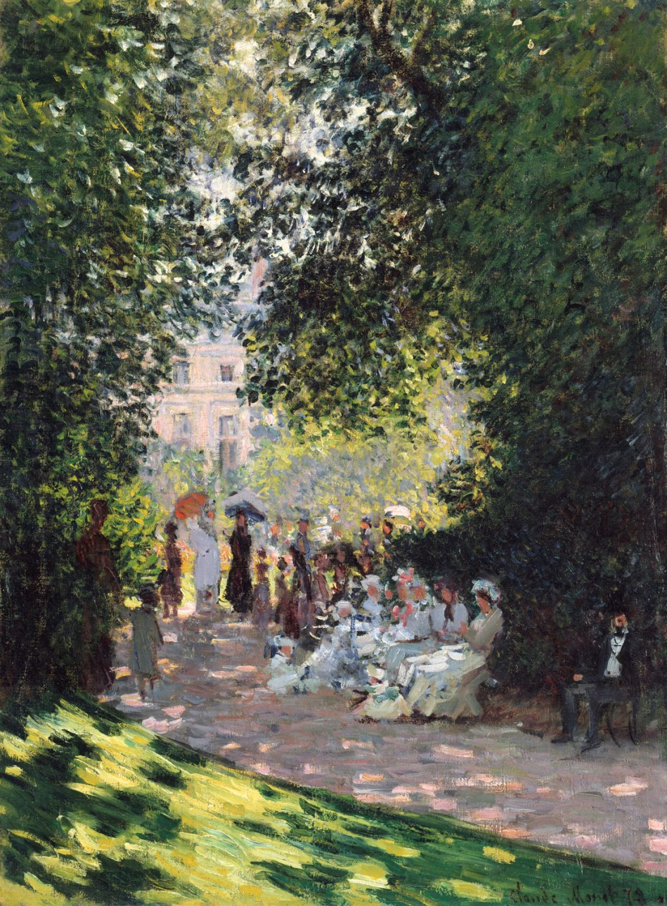 Claude Monet – The Metropolitan Museum of Art 59.142. Title: The Parc Monceau. Date: 1878. Materials: oil on canvas. Dimensions: 72.7 x 54.3 cm. Nr.: 59.142. Source: http://www.metmuseum.org/toah/works-of-art/59.142/.