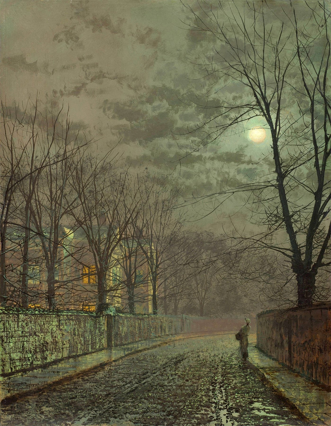 John Atkinson Grimshaw Private Collection Under The Moonbeams