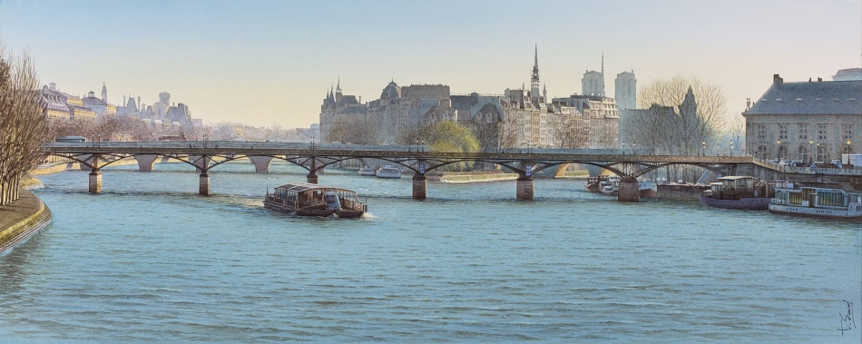 Thierry Duval – private collection. Title: Time Passes under the Bridge of the Arts. Date: 2016? Materials: watercolor. Dimensions: 81 x 32 cm. Source: http://www.artquid.com/artwork/536918/12207/le-temps-s-ecoule-sous-le-pont-des-arts.html