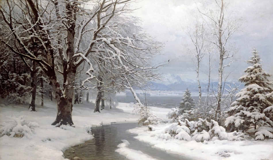Anders Andersen-Lundby – private collection. Title: Wooded River Landscape with Stream and Lake Beyond. Date: 1889. Materials: oil on canvas. Dimensions: 104.1 x 174.6 cm. Sold by Christie's in London, on June 17, 1994. Source: https://rs.1000museums.com/filestore/4/5/3/4_f66bcd8fc6bc33a/4534lpr_716e88e76298e5c.jpg.