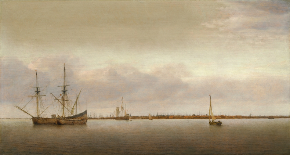 Abraham de Verwer – The National Gallery of Art 2008.32.1. Title: View of Hoorn. Date: c. 1650. Materials: oil on panel. Dimensions: 51.1 x 	 94.6 cm. Nr.: 2008.32.1. Source: http://www.nga.gov/content/ngaweb/Collection/art-object-page.140376.html#entry. I have changed the light and contrast of the original photo.