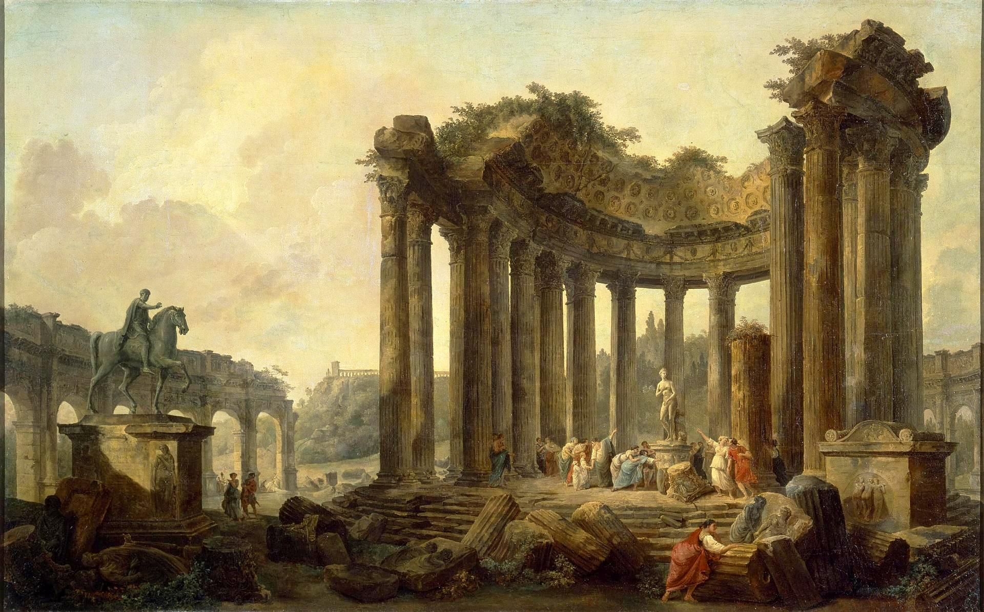 Hubert Robert – The Hermitage State Museum ГЭ-4785. Landscape with ...